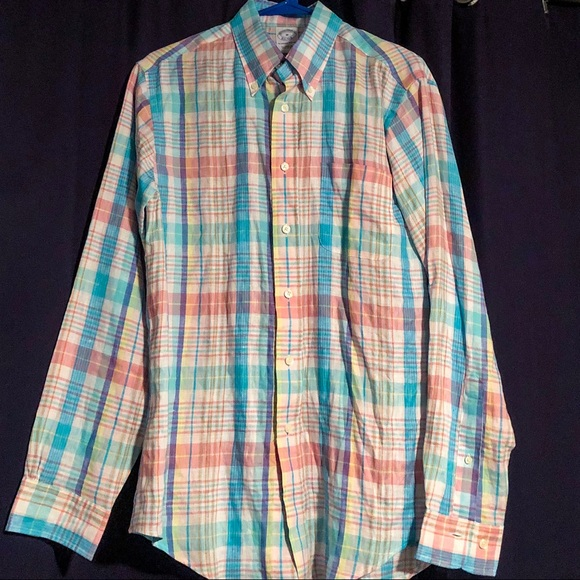 Brooks Brothers Other - Brooks Brothers Summer Plaid Linen Shirt Slim Fit